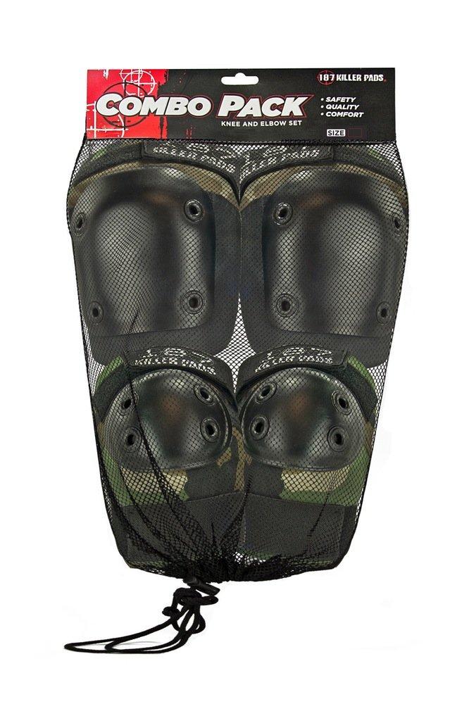 187 Killer Pads Knee & Elbow Pad Combo Pack - Camo - Small/Medium