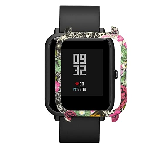Patrón de camuflaje Slim Frame Reloj Funda carcasa protectora para Huami Amazfit Bip Youth Watch por