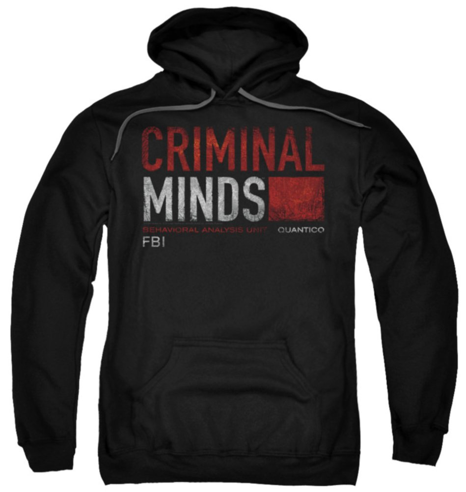 Trevco Hoodie Criminal Minds Title Card Pullover Hoodie Size L
