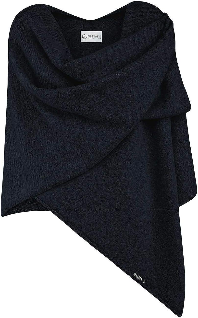 hochwertiges Cape f/ür Damen Stola f/ür Sommer und Winter weicher Umhang und Poncho XXL Umh/ängetuch GIESSWEIN Poncho-Schal eleganter Feinstrick /Überwurf aus 100/% Lammwolle