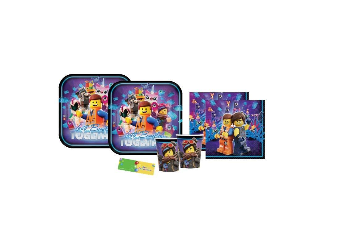 IRPot – Kit de 2 Lego, Batman, imagen de murciélago, ideal para fiestas de cumpleaños de niños