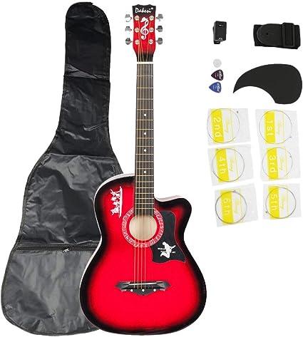 dakesi dk-38 C Basswood Guitarra para Principiantes Guitarra con ...