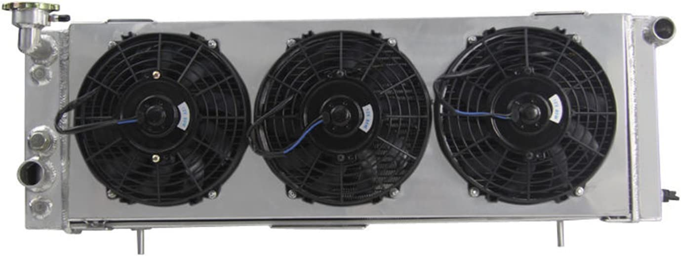 3ROW Radiator+SHROUD+3x9/'/'FANS FOR 1991-2001 99 Jeep Cherokee XJ 2.5 L4 4.0 L6