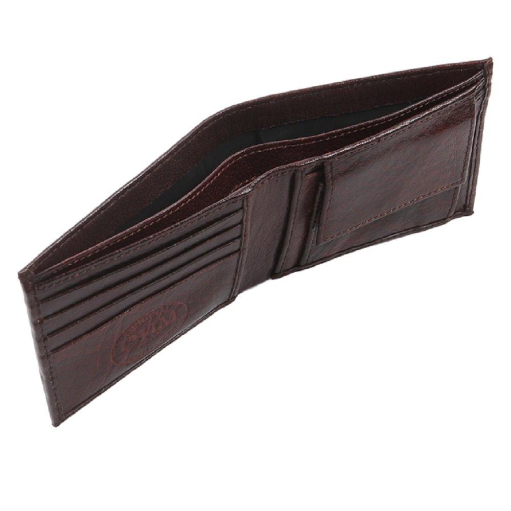 Oxblood OHM Leather New York Bill Fold Wallet One Size