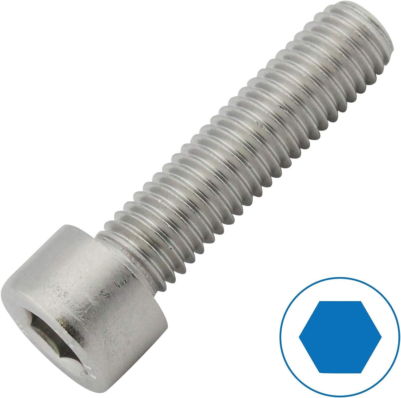DIN 912 VPE: 4 St/ück Edelstahl A2 V2A Zylinderschrauben mit Innensechskant Zylinderkopfschrauben M8 x 20 D2D