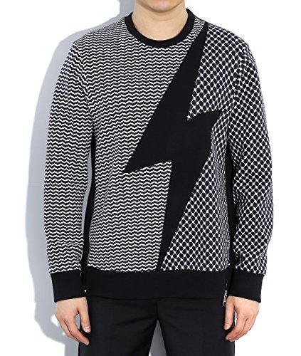 wiberlux-neil-barrett-mens-thunderbolt-mixed-pattern-sweatshirt-l-navy