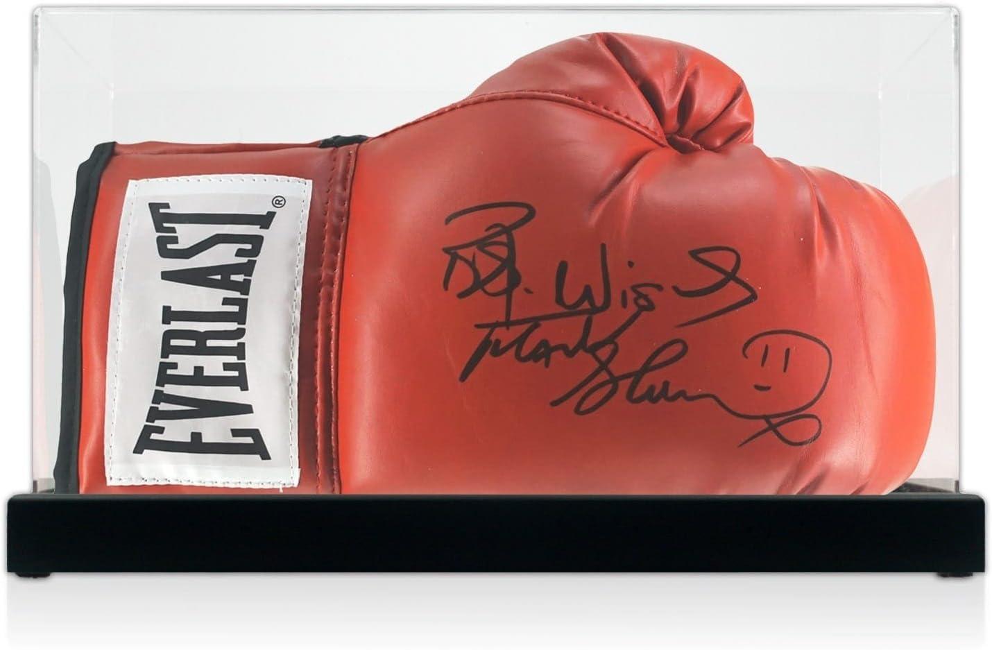 Frank Bruno firmó el guante de boxeo Everlast en el estuche: Amazon.es: Deportes y aire libre
