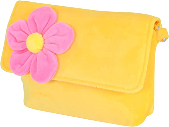 Chords Fun Yellow with Pink Flower Sling Bag for Girls