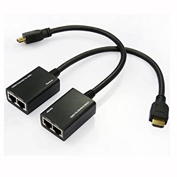 AGPtek® 30 m HDMI/DVI Cat5e- oder Cat6 Extender UTP Ethernet ...