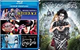 Tim Burton Blu-ray Collection - Edward Scissorhands, Beetlejuice, Charlie & the Chocolate Factory & Corpse Bride 4-Movie Bundle
