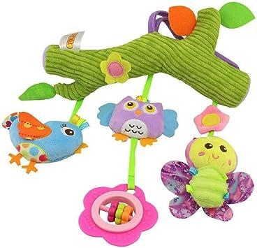Plush Rattle Baby Girls Boys Soft Toy Pushchair Car Hanging Pram Cradle Chair