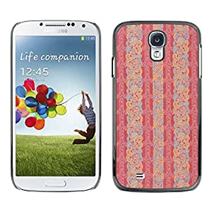 MOBMART Carcasa Funda Case Cover Armor Shell PARA Samsung Galaxy S4 - Entanglement Of Peach Petals