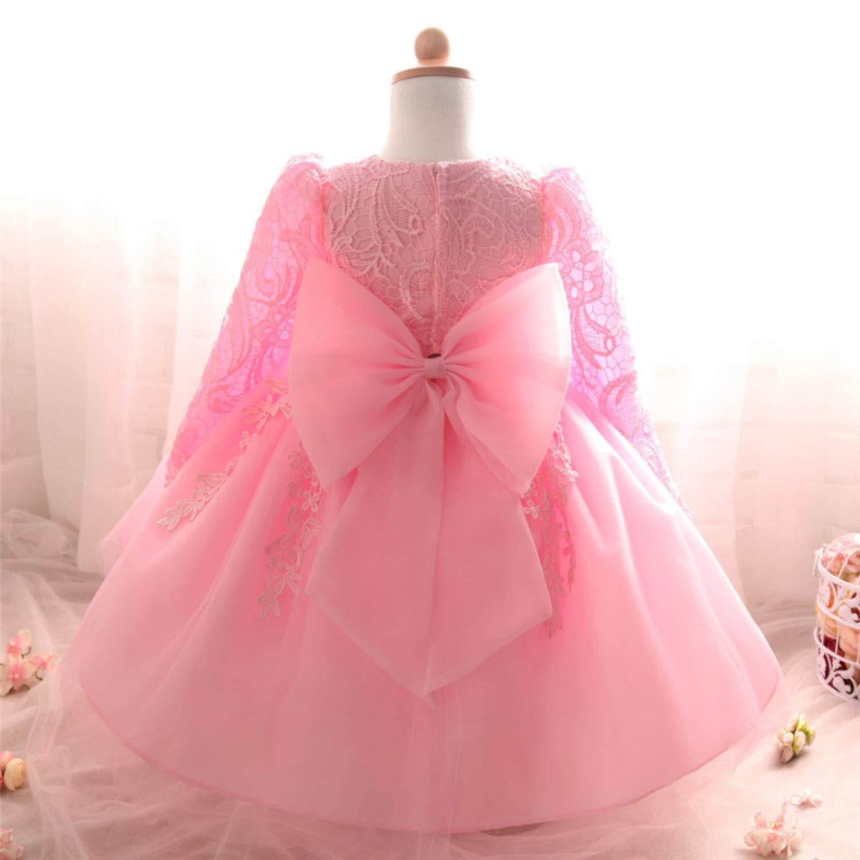 TTYAOVO Baby M/ädchen Bestickt T/üll Blume Prinzessin Brautjungfer Hochzeit Geburtstag Party mit Langen /Ärmeln Kleid