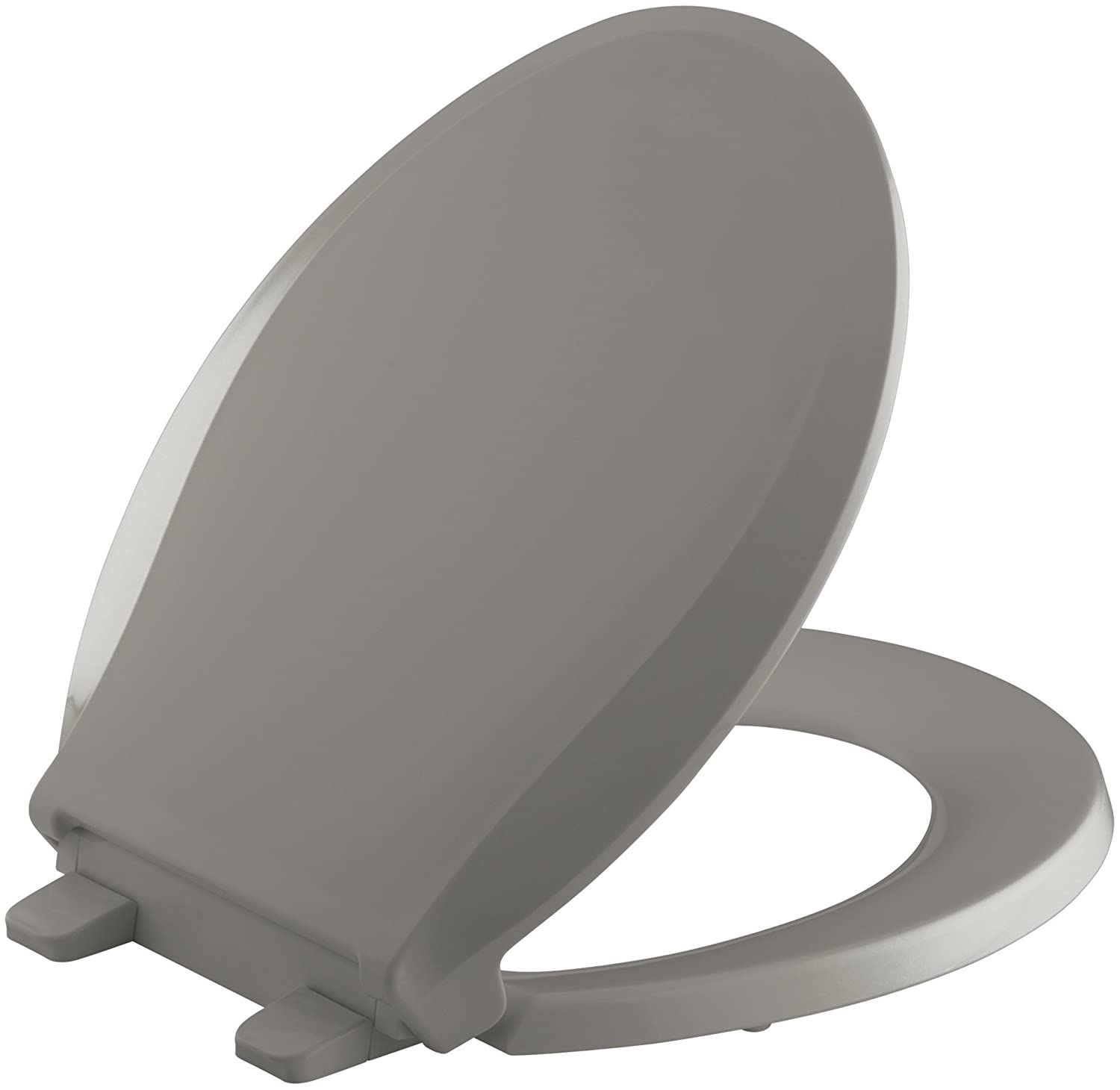 KOHLER K 4639 95 Cachet Quiet Close with Grip Tight Bumpers Round front Toilet  Seat  Ice Grey     Amazon comKOHLER K 4639 95 Cachet Quiet Close with Grip Tight Bumpers Round  . Dark Grey Toilet Seat. Home Design Ideas