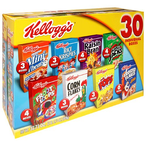 Kellogg's Jumbo Assortment Pack, 32.73-Ounce Box