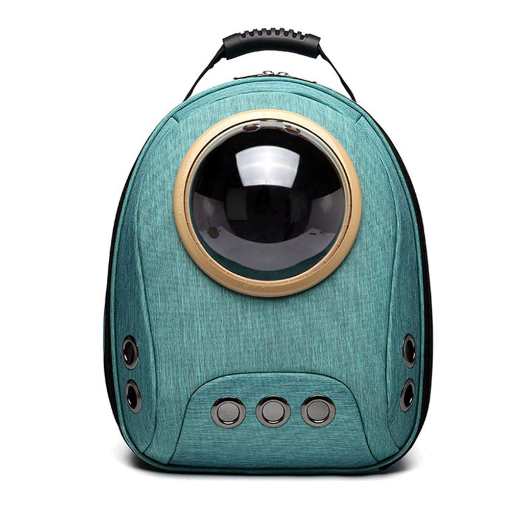ForHe Canvas Pet Cat Puppy Carrier Bag Backpack, Outdoor Astronaut Space Capsule Puppy Travel Bag, 4 Types Optional