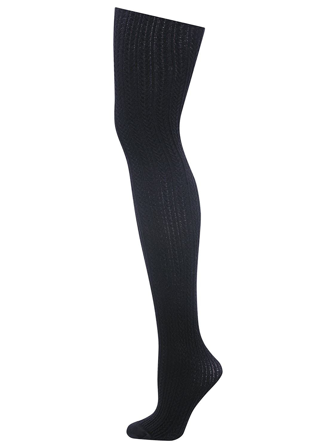 M& Co Ladies Cosy And Warm Cable Knit Plain Coloured Comfort Fit Tights