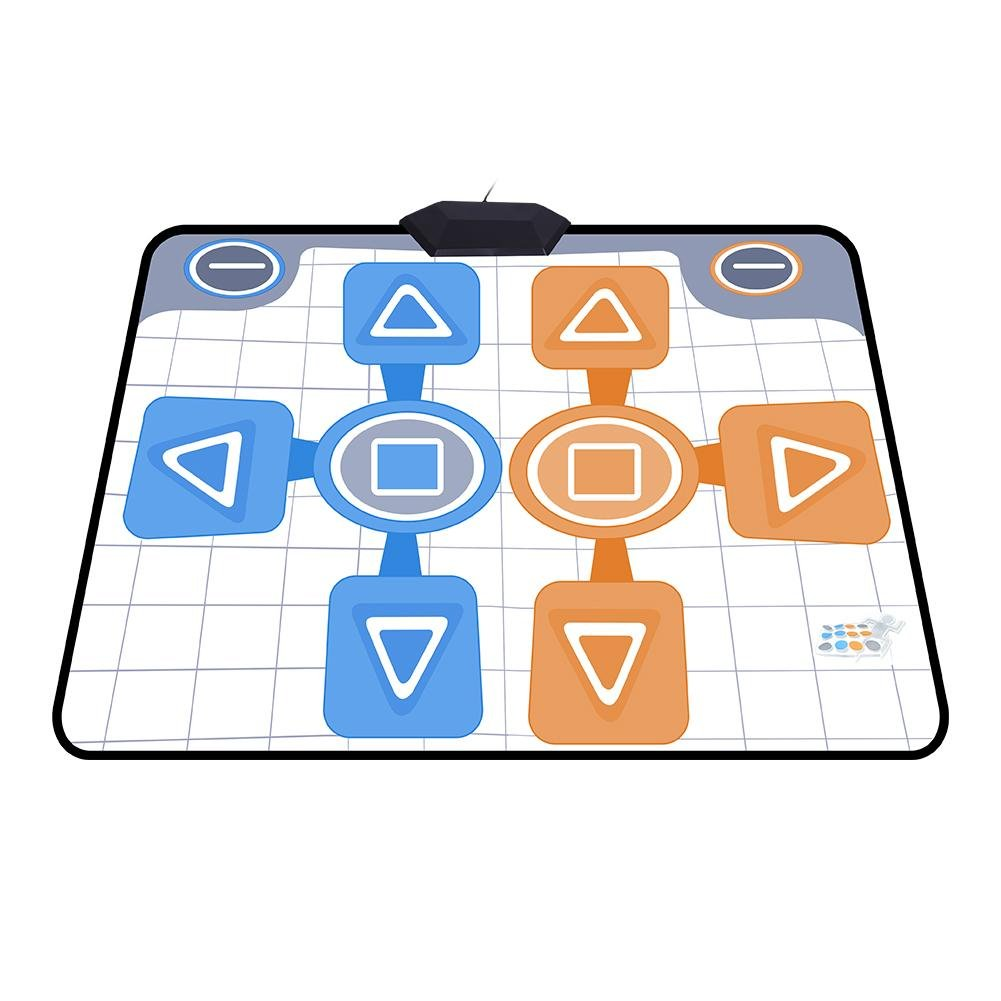 Double Person Dancing Mat,Non-Slip Game Dance Pads for Nintendo Wii Console Game,Plug and Play for 2 Player by Tangxi (Image #6)