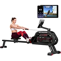 SNODE WR100 Water Rowing Machine with Bluetooth APP (Free Tutorials), Rowing Machine for Home Use, Foldable Design…