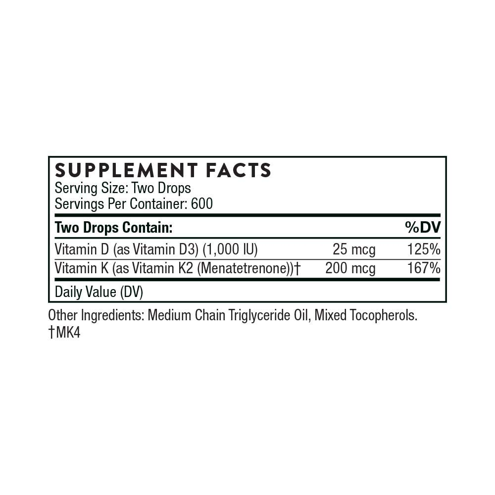 Thorne Research - Vitamin D/K2 Liquid (Metered Dispenser) by Thorne Research (Image #2)
