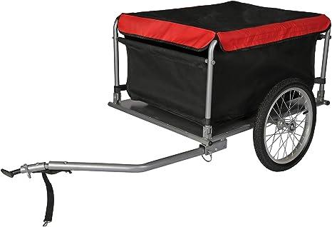 WilTec Remolque de Carga para Bicicleta 65kg con Barra tracción ...