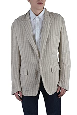 8bf008d6e818 Amazon.com  Dolce   Gabbana Men s Beige 100% Linen Blazer  Clothing