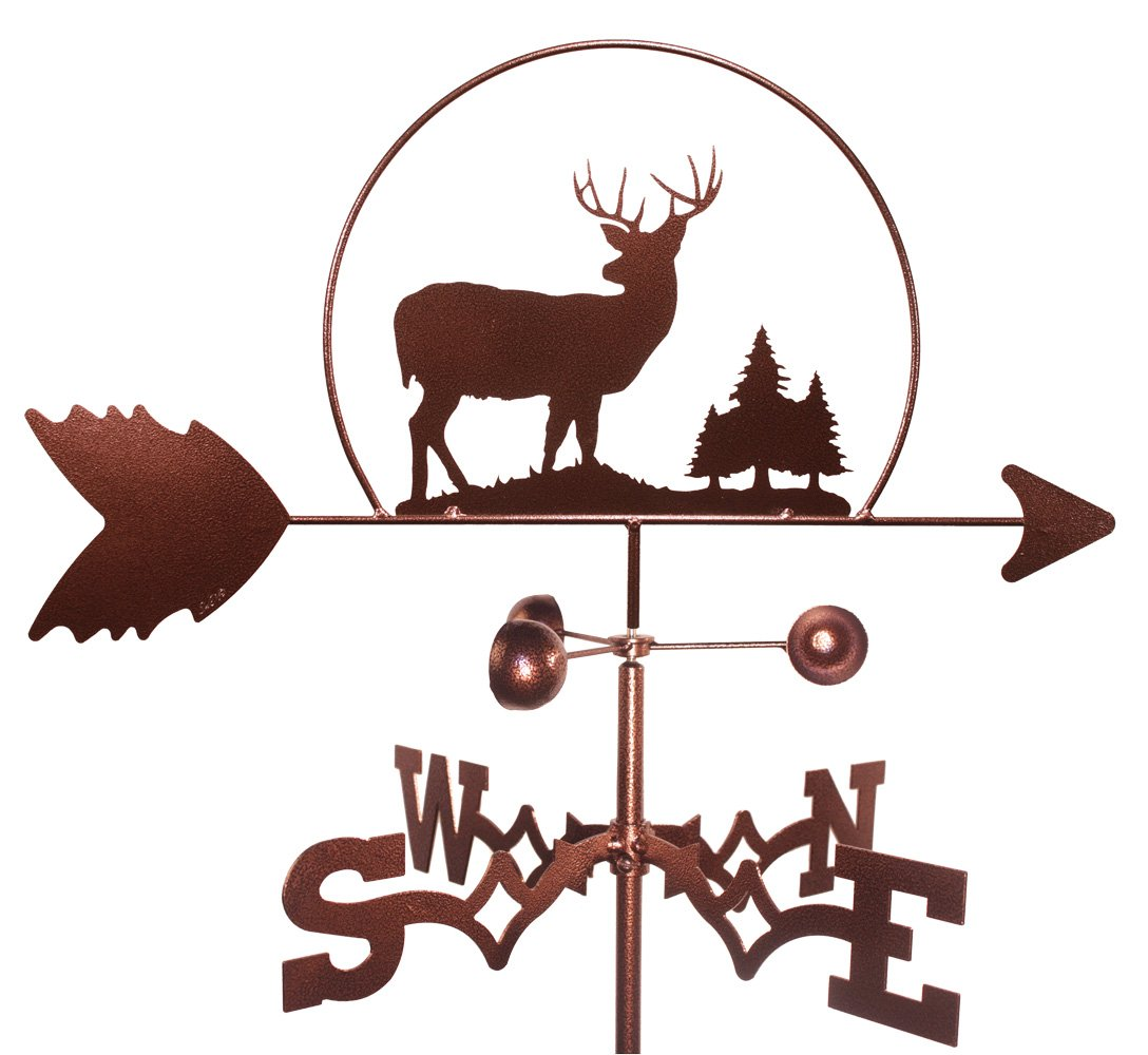 MONTGOMERY INDUSTRIES Deer Wildlife Weathervane (Roof Mounted Included)