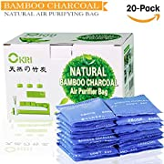 100% Sealed All-Natural Air Purifier and Diaper Pail Deodorizer - for Diaper Genie, Ubbi & Other Pails Shoe Closets, Cars,Refrigerators & with Pets, Set of 20 Bamboo Carbon Filters