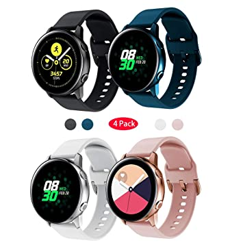 TOPsic Correa Galaxy Watch Active 2 40mm 44mm, 20mm Silicona ...