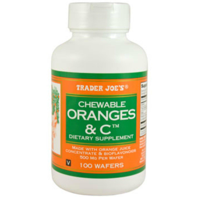 Trader Joe's Chewable Oranges & C 500mg, 100wafers