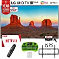 """LG 65UK7700PUD 65"""" Class 4K HDR Smart LED AI UHD TV w/ThinQ (2018 Model) + Free $50 Netflix Gift Card + 1 Year Extended Warranty + Flat Wall Mount Kit Ultimate Bundle + More"""