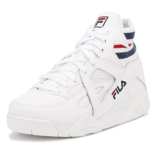cb0d842f75d1b7 Fila Mens White/Navy/Red Cage Sneakers White Size: 13 D(M) US ...
