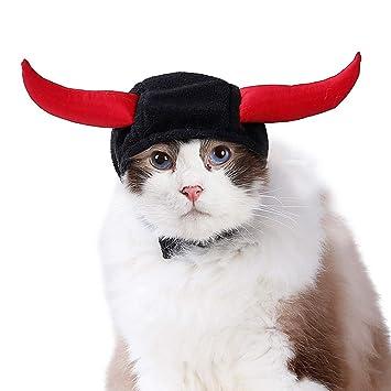 BESTOYARD Disfraz de Perro y Gato, Cuernos de Diablo, Sombrero, Vestido, Accesorio para la Cabeza para Gato, Perro, Cachorro, decoración de Fiesta: ...