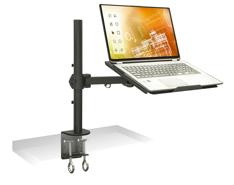 سوار آن! پایه لپ تاپ رومیزی با نگهدارنده قابل تنظیم با حرکت کامل ، بستر خنک کننده هوای مناسب ، متناسب با 17 اینچ کامپیوتر ، نصب گیره ، 22 لیتری ظرفیت سیاه (MI-3352LT)
