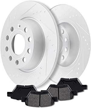 Rear Replacement Brake Rotors and Ceramic Brake Pads 2012-2014 Volkswagen Passat
