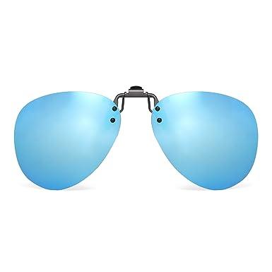 JM Polarizadas Clip en Gafas de Sol Sin Marco Flip up Lente ...