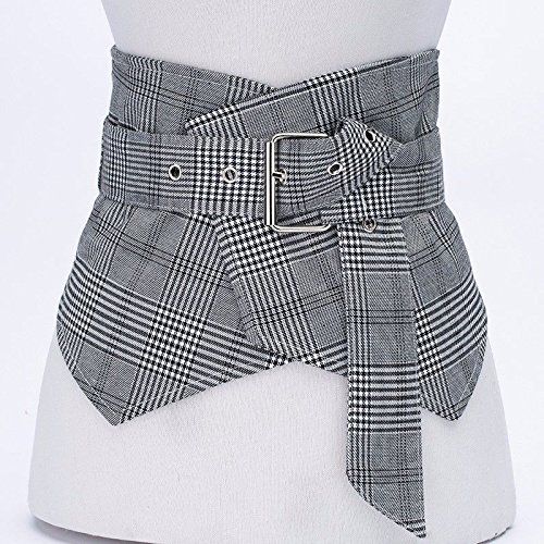 Female Vest Spring Wide Decorated Belt Fashion Waist Gray Stripe Grey Dress 2018 6n0nT