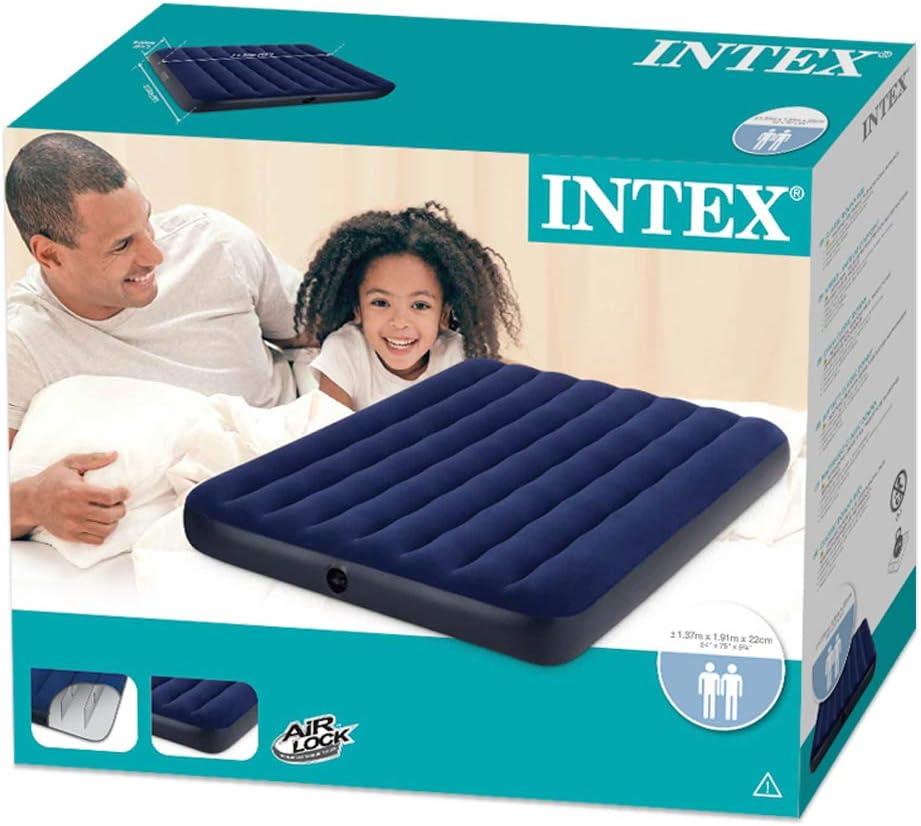 Intex 68758 - Colchón hinchable classic doble 137 x 191 x 22 cm