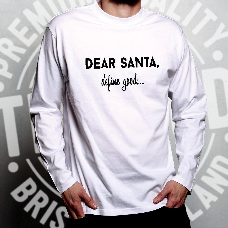 Tim And Ted Christmas Long Sleeve T-Shirt Dear Santa Define Good Funny  Festive Seasonal Naughty Nice List Little Elf Helpers Good Bad Gifts  Presents Cool ...