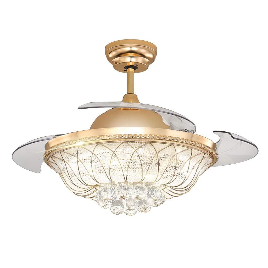 LEDクリスタルシーリングファンライト Size リビングルームの目に見えないファンのシャンデリア レストランのシンプルなリモコン天井ファン 寝室のサイレントライトのシャンデリア (Color : Gold, Size : : 47*132cm) 47*132cm) B07QMFKVKF Gold 47*132cm, Gnetアキバ:f106f52b --- m2cweb.com