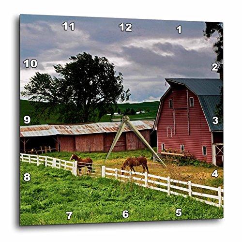3dRose DPP_95827_1 Barn, Farm Country, Palouse, Colfax, Washington-Us48 Jre0005-Joe Restuccia Iii-Wall Clock, 10 by 10-Inch (Wall Washington Covers)