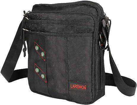 HLL Canvas Casual Pockets,Men Women Travel Multifunctional Pockets Canvas Bag Shoulder Messenger