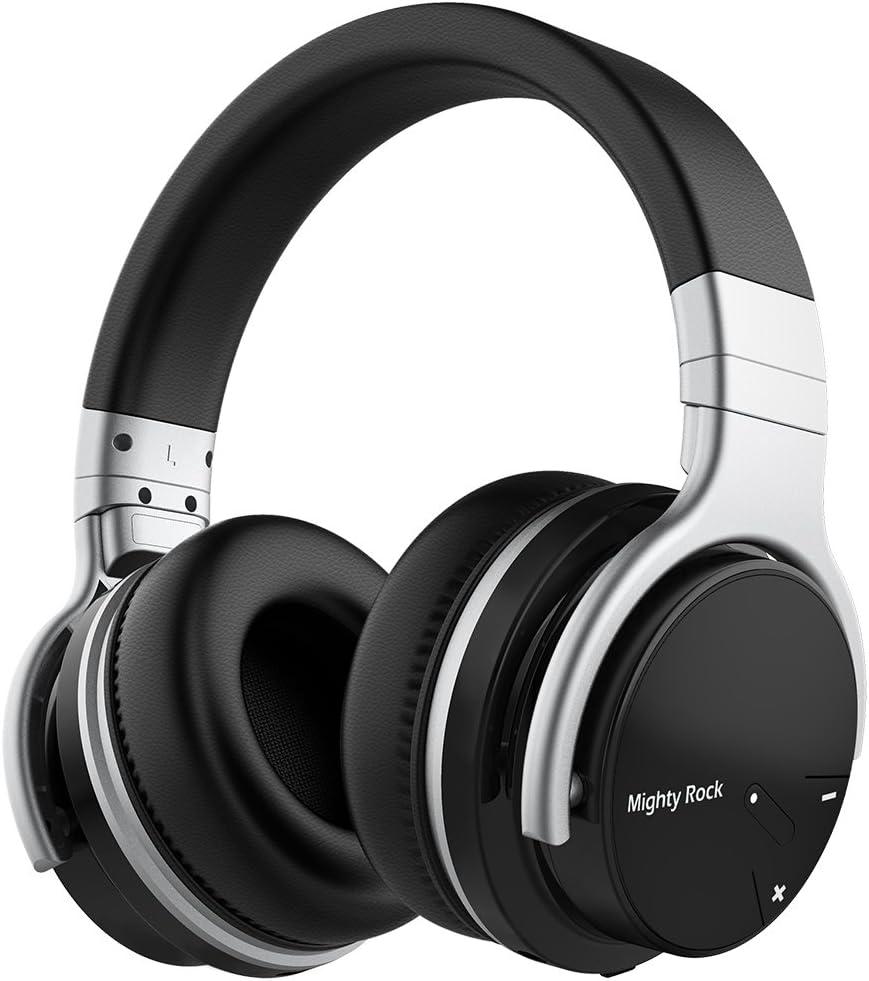 Auriculares inalámbricos Mighty Rock E7C, con micrófono, estéreo, graves profundos, con cable, ofrecen 30 horas de uso, con Bluetooth, para teléfonos móviles/PC/TV: Amazon.es: Instrumentos musicales