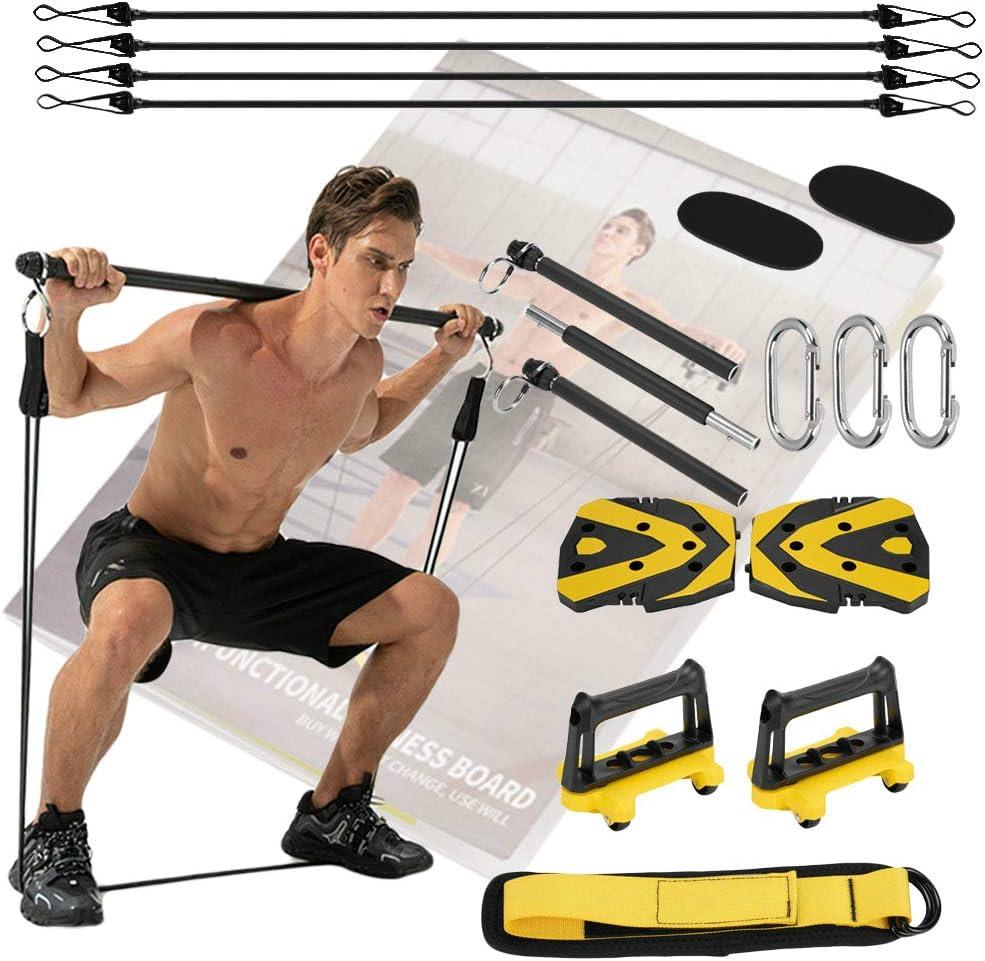 JEMPET Portable Exercise Home Gym Equipment-Full Body Training Fitness Set for Home/Office/Travel-Muscle Builder Workout Kit for Men/Women