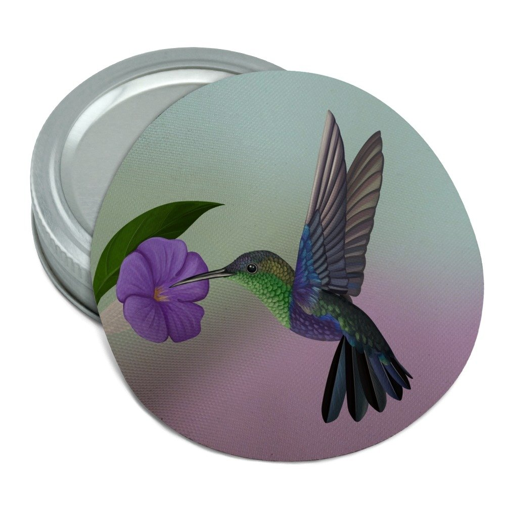 Hummingbird Crowned Woodnymph Purple Violet Round Rubber Non-Slip Jar Gripper Lid Opener Graphics and More