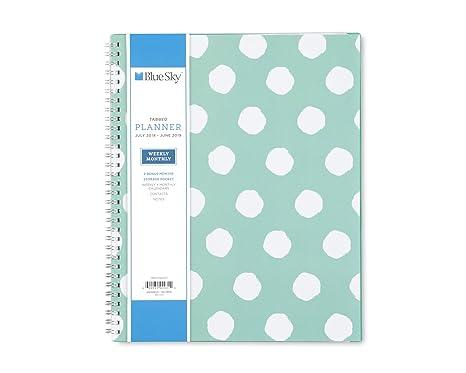 polka dots 85x11 ay binder calendar