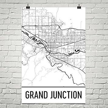 Amazon.com: Grand Junction CO Map, Grand Junction Art, Grand ...