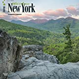 New York, Wild & Scenic 2018 12 x 12 Inch Monthly Square Wall Calendar, USA United States of America Northeast State Nature