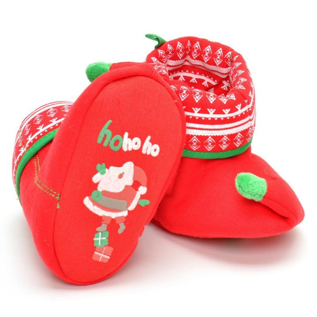 Celendi Childrens Shoes Christmas Long Tube Cartoon Thermal Boots