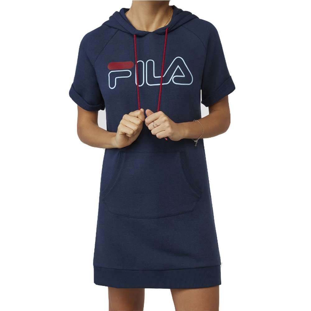 Fila DRESS レディース B076PTMKT5 Large|Navy, Rio Red Navy, Rio Red Large
